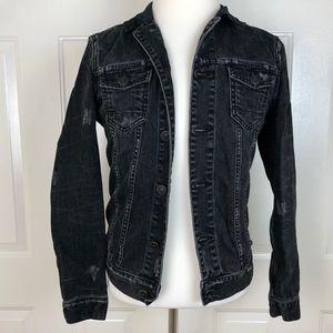 All Saints Jackets & Coats - All Saints Men's Black Distressed Denim Jacket